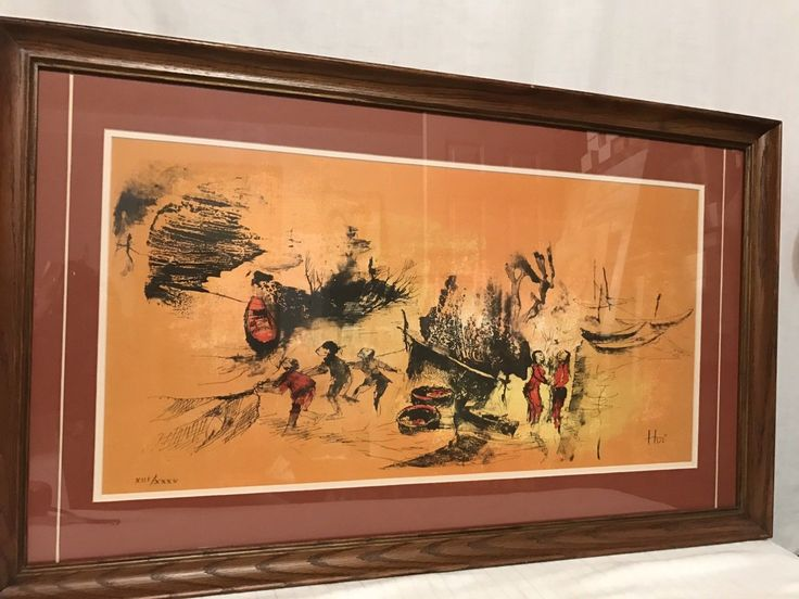 Rare Hoi Lebadang Signed & Numbered Lithograph #'d Roman In Numerals XIII/XXXV | eBay