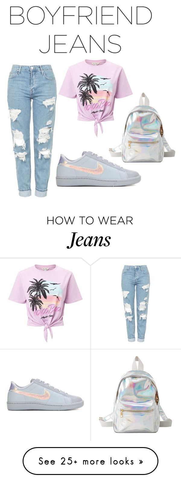 """""""Boyfriend Jeans"""" by dazzlers on Polyvore featuring Topshop, Miss Selfridge, NIKE and Charlotte Russe"""