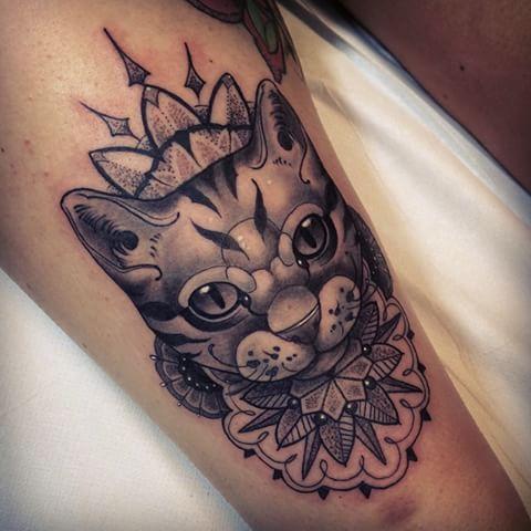Résultats de recherche d'images pour «cat mandala tattoo»
