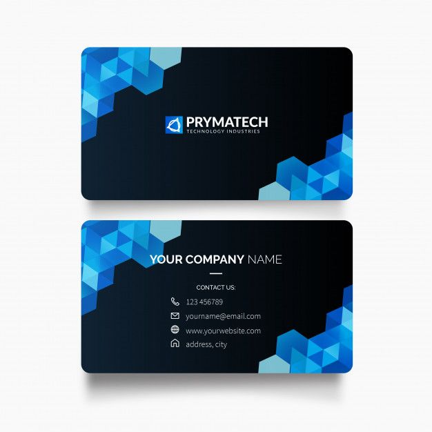 Download Modern Business Card With Hexagon Shapes For Free Co