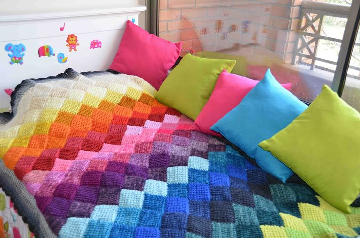 Mantas tejidos al crochet paso a paso buscar con google - Hacer manta de punto ...