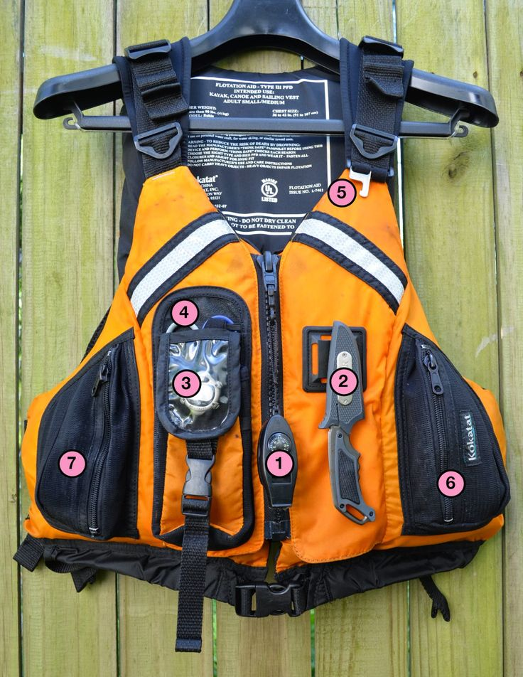 For me, the PFD is not just a life jacket but also a platform to keep handy tools close by and ready for action. Here is a list of the ge...