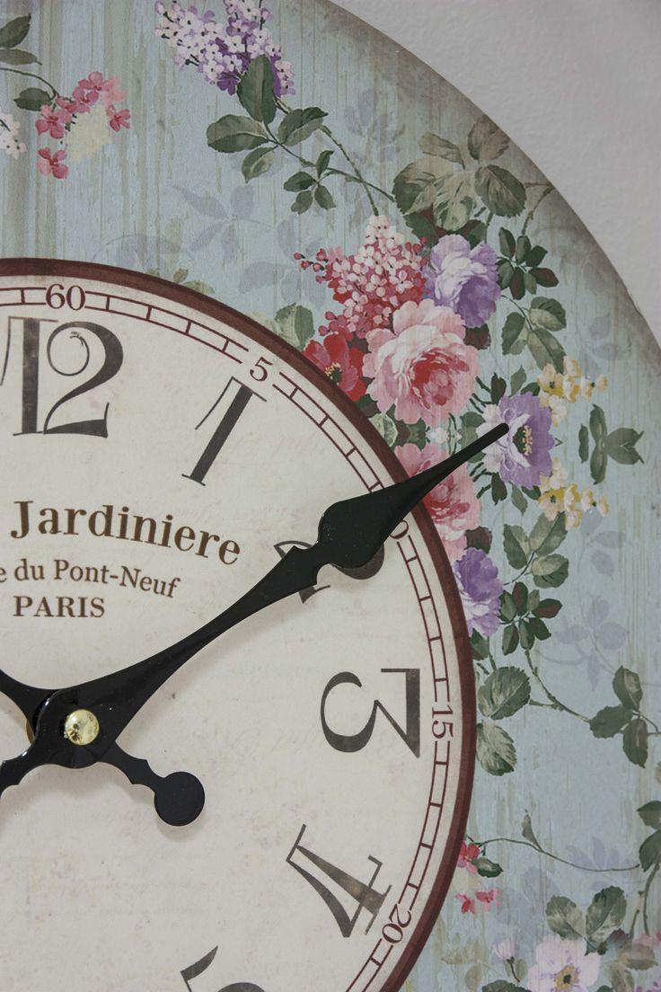 Wall Clock #HomeSweetHome #GreenApple #GAhomestyle #homestyle #WallClock #cozy #Flowers