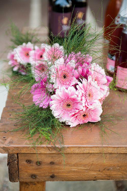 Garland of gerbera daisies