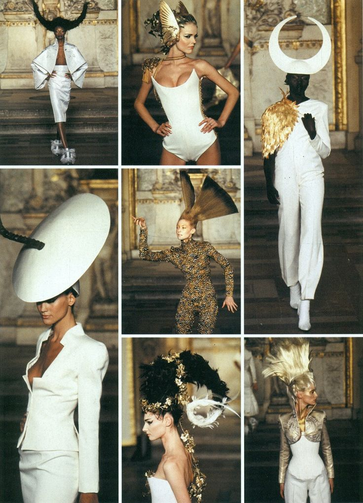 grecian mythical winged goddesses at Givenchy by Alexander McQueen S/S 1997 Haute Couture