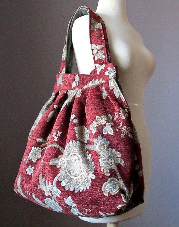Oversized Carpet bag shoulder tote bag Boho bag by ScarfObsession