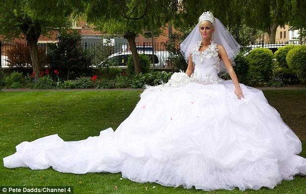 My Big Fat Gypsy Wedding – Channel 4 … says it all doesn't it – whoever said bigger was better? #Dress #Gown