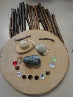 Natural resources self-portrait collages! Science link: rocks and minerals