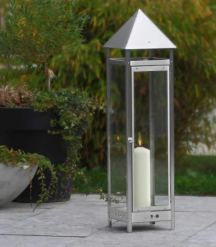 Deko Gartenlaterne Aus Edelstahl 90 Cm Laterne Garten Laterne Kerzenlicht