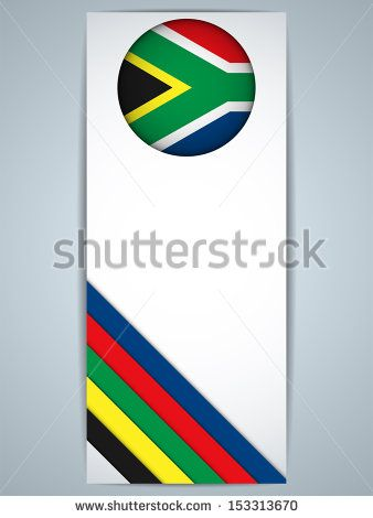 Vector - South Africa Country Set of Banners