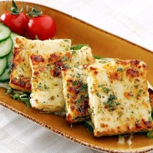 Grilled halloumi - Middle Eastern Foods. The best way to eat cheese.