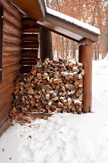 Wood at Camper Cabin by Sara & Patrick on Flickr.