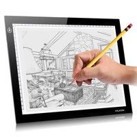 Wish | Hot selling!Newet HUION L4S A4 Graphic Drawing Tablets LED Drawing Tablet Light Pad Trackpad Painting Plates Tablet USB digital drawing tablet (Size: 210mm by 310mm, Color: Black)