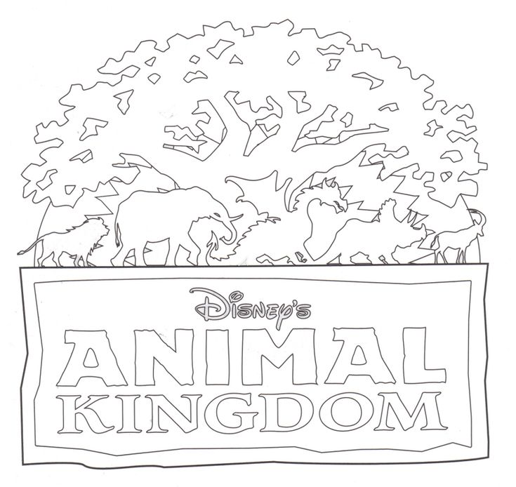 Disney Epcot Coloring Pages : Animal kingdom coloring page kindgon pinterest