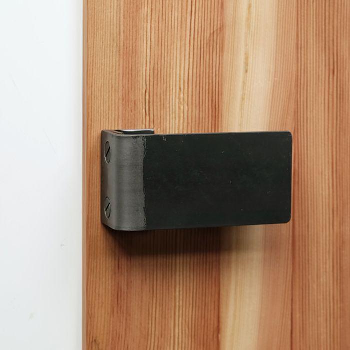 黒皮鉄のシンプルなオリジナルドアハンドル ドアハンドル