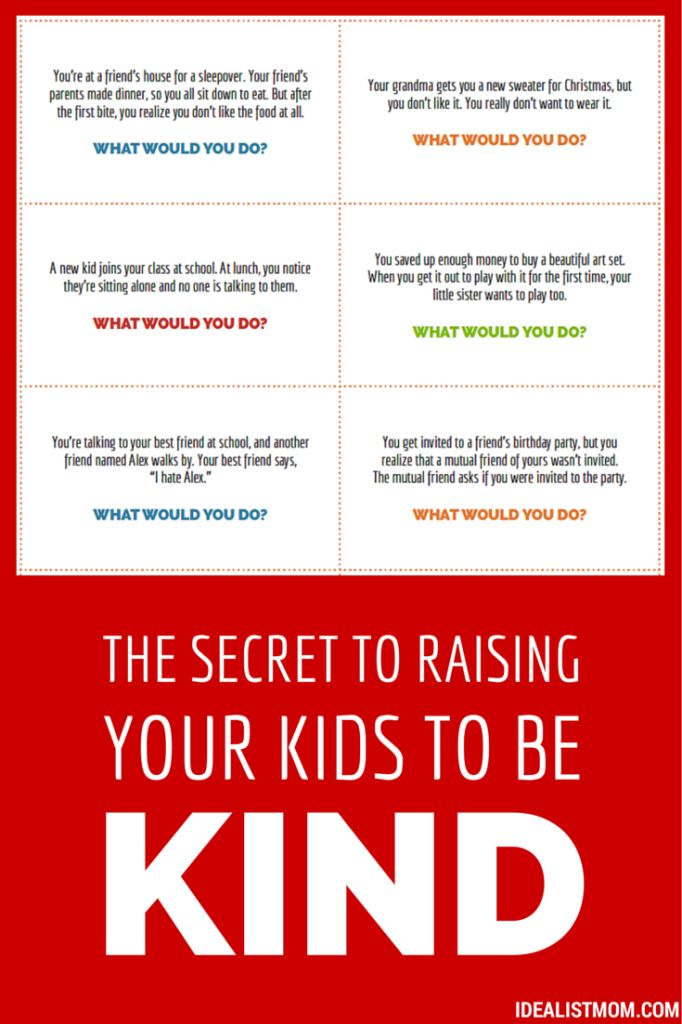 Check out this surefire trick for raising your kids to be kind and caring. Plus a free printable to use with your kids at home!
