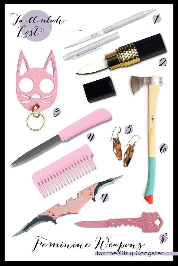 Feminine Weapons for the Girly Gangster
