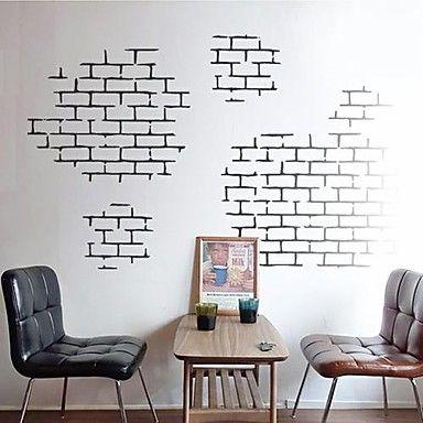 wall stickers Vægoverføringsbilleder, moderne mursten mursten tekstur egenskaber PVC Wall Stickers 2015 – kr.324