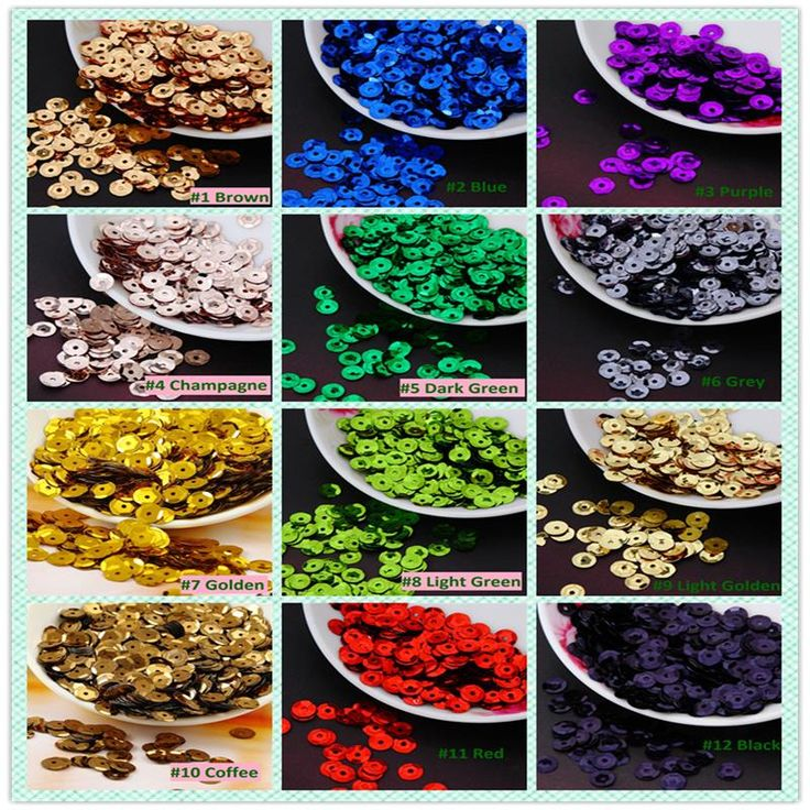8mm colori solidi turno di coppa paillettes paillette per l'artigianato scrapbook e cucito diy handmade progetto