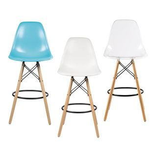 Shop For Retro Eames Style 26 Inch Counter Bar Stool With