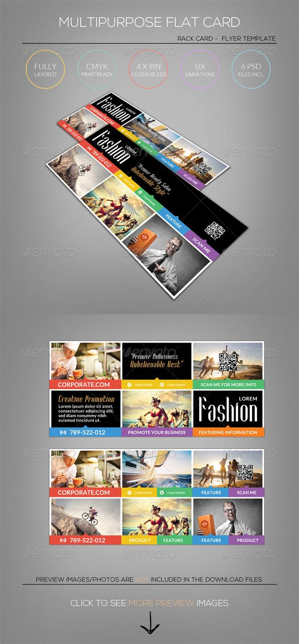 11 best Rack Card - Rack Card Printing images on Pinterest Card - rack card template