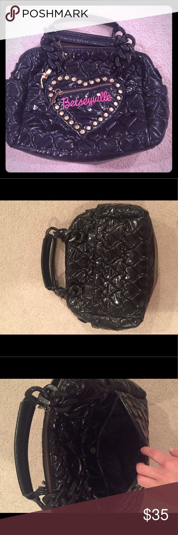 Betsey Johnson Betseyville Bag Worn Once. Lining is clean with no tears. Very unique! Betsey Johnson Bags