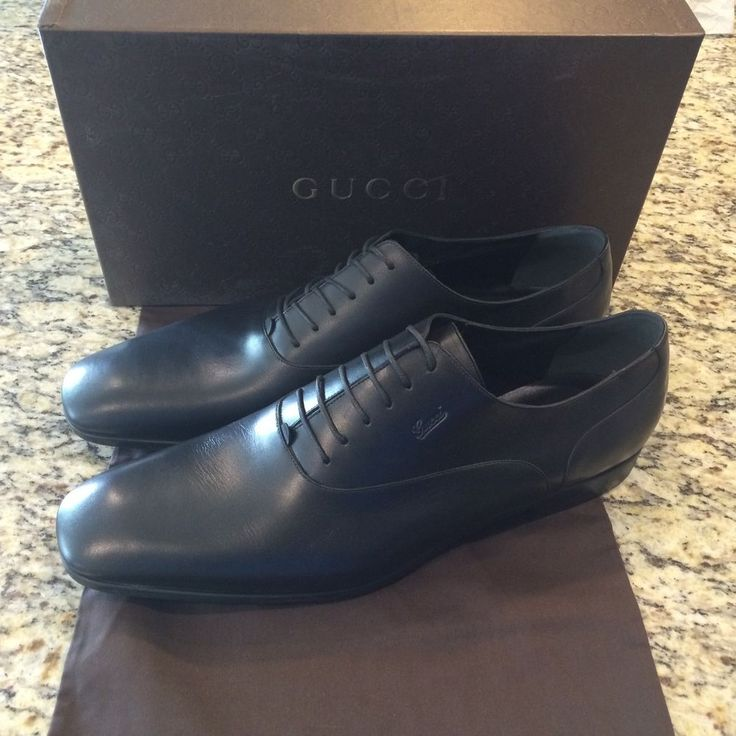 Gucci Men's Lace Up Black Leather Oxfords Dress Shoes US 16 #Gucci #Oxfords