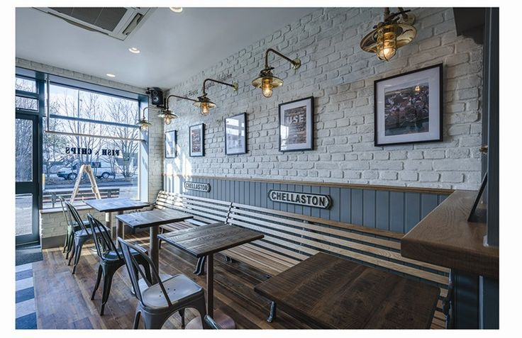 George's Chellaston, a fish and chip cafe which celebrates tradition, nostalgia with a touch of the industrial.