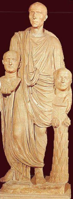 Togado Barberini. Mármol. S. I a.C. Museos Capitolinos. Roma. ARTE TORREHERBEROS: LOS ORÍGENES DEL RETRATO ROMANO. EL RETRATO REPUBLICANO