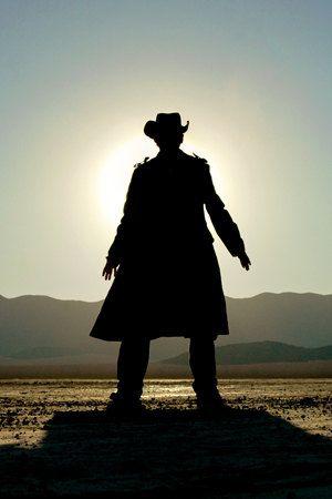 Western Art Cowboy Gunslinger Silhouette 8x12 by SierraPhotoNV,