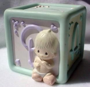1990 Precious Moments Baby First Money Bank by ALEXLITTLETHINGS, $15.99