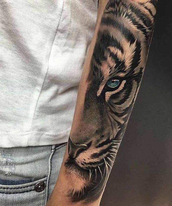 Tiger Unterarm Tattoo | Coole unterarm tätowierungen