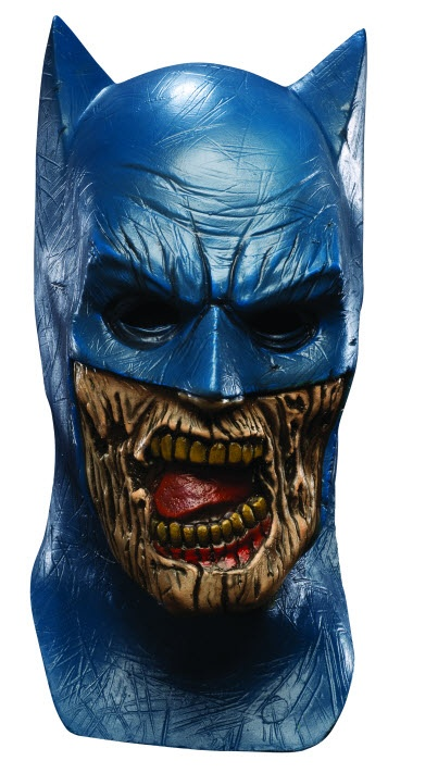Batman Zombie Mask.  Blend in flawlessly with the zombie hoarde.