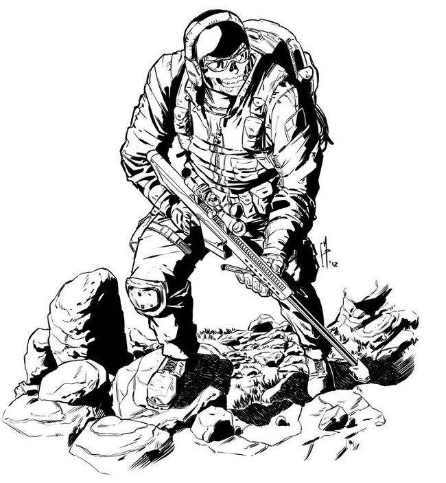 coloring pages for call of duty | Call of duty, Colouring ...