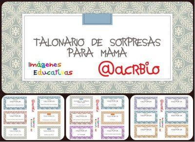 Talonario de Sorpresas para mama Imagenes Educativas Collage