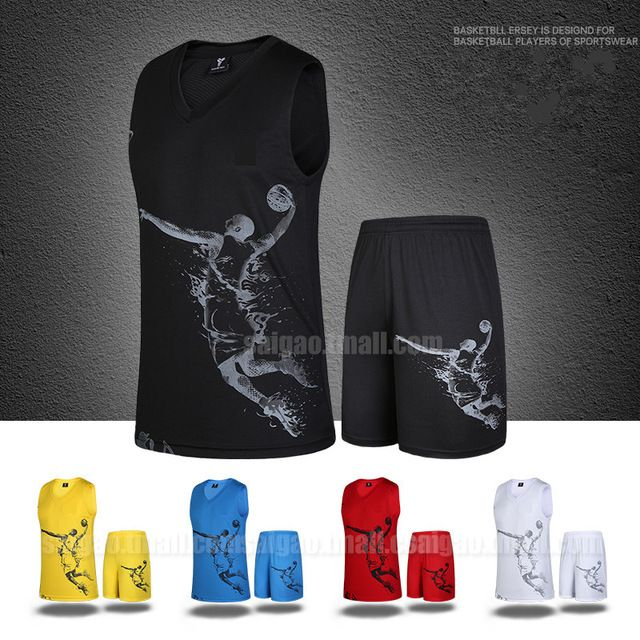 2016 vêtements de basket-ball masculin mis en jersey basket-ball des enfants vêtements adulte paragraphe