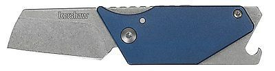 Kershaw Pub Sinkevich Utility Compact Pocket Knife with Carabiner, Blue