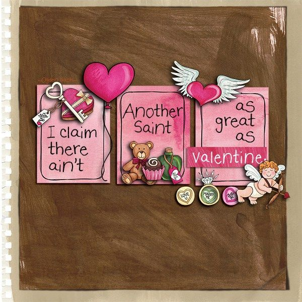 42 best Valentine\'s scrapbook page ideas images on Pinterest
