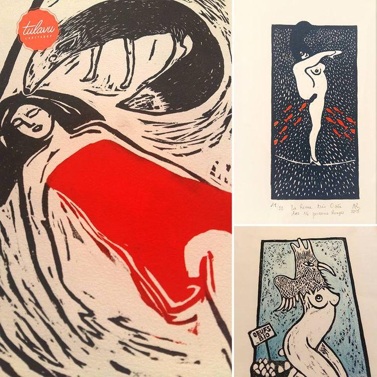 //Collection NATHALIE ROUSSEAU// #Artiste #Peintre - Illustration technique #Gravure sur bois ➥ http://nathalierousseau.wix.com/artiste