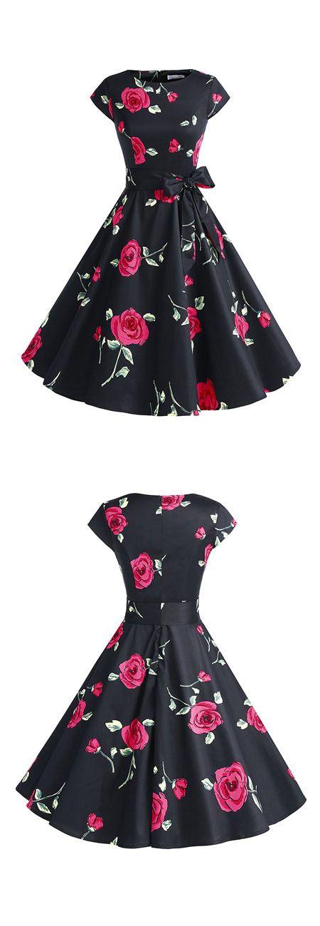 fashion rockabilly dresses,vintage style dresses,ruched retro dresses,50s dresses,floral print dresses