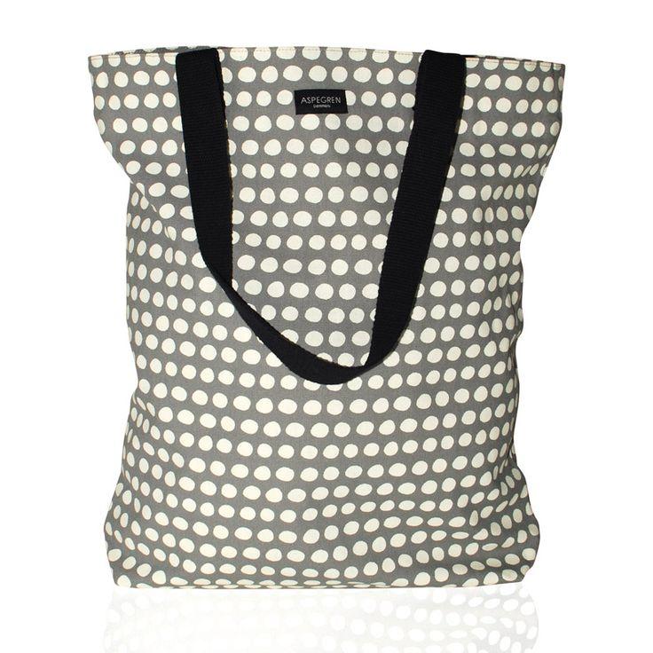Aspegren-bag-dot-warm-gray Canvas bag www.aspegren.dk