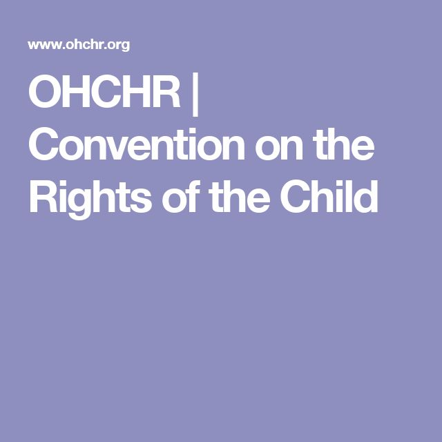 OHCHR     Convention on the Rights of the Child