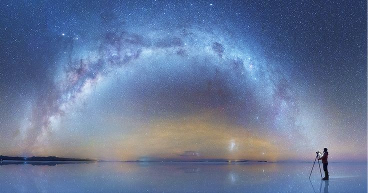 Russian Photographer Captures Breathtaking Photos Of Milky Way Mirrored On Salt Flats In Bolivia | Bored Panda