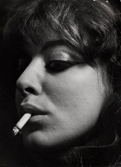 """""""Vali Myers With Cigarette, Paris"""" (1953). Credit Ed van der Elsken/Stedelijk Museum Amsterdam and Nederlands Fotomuseum"""
