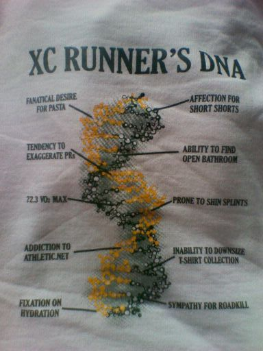 Oh no. This is way to accurate. Even though I don't technically run in an XC group, I run the same types of trails!