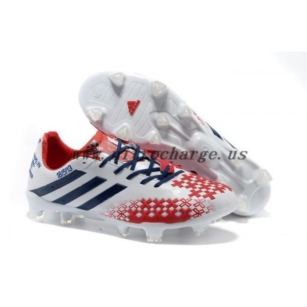 David Beckham 2013 Adidas Predator LZ 2 TRX FG Soccer Cleats White Black  Red For Sale