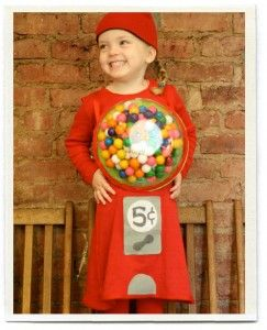 Gumball machine- Easy DIY Halloween Costume Ideas for Adults and Children!