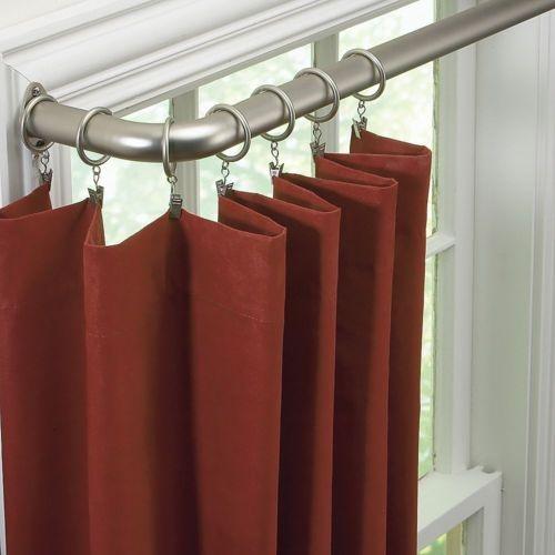 1 188 Quot Diameter Curved Curtain Rod Nickel Curtain Rods