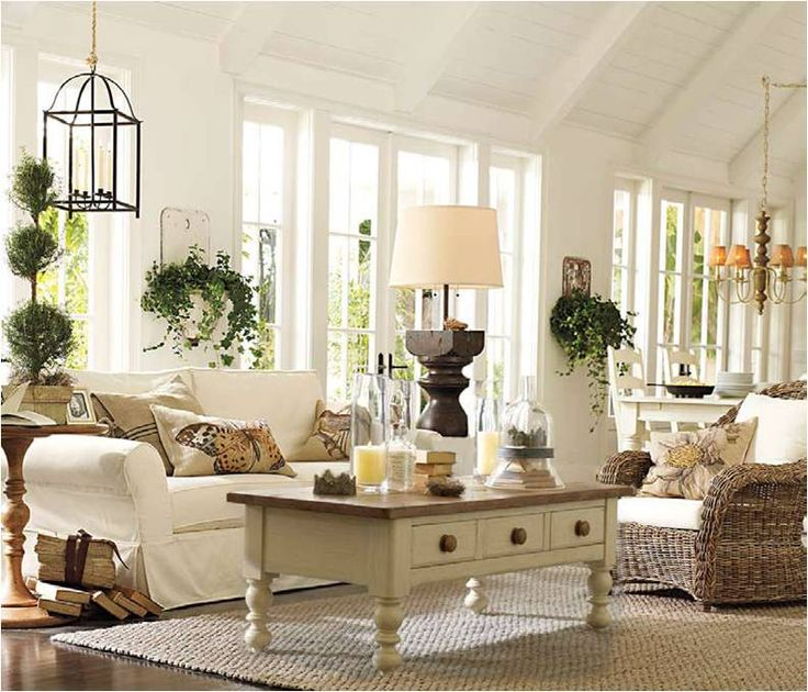 Country Living Rooms Pottery Barn: 4603 Best Images About Cottage Interiors On Pinterest