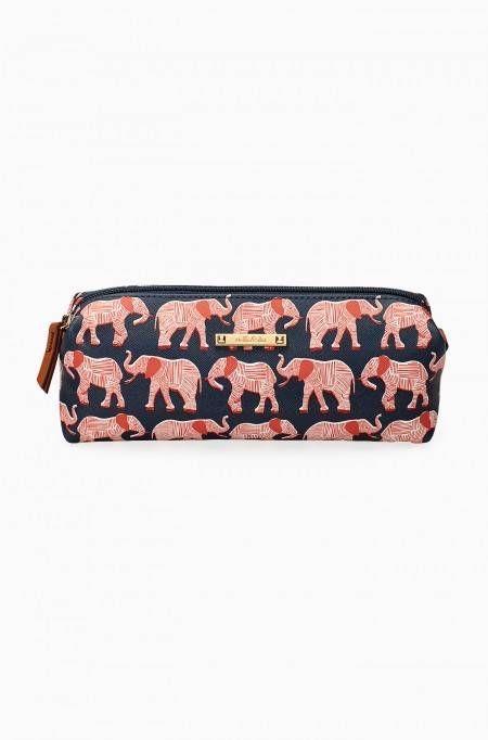 Pouf Slim - Navy/Orange Elephant | Stella & Dot